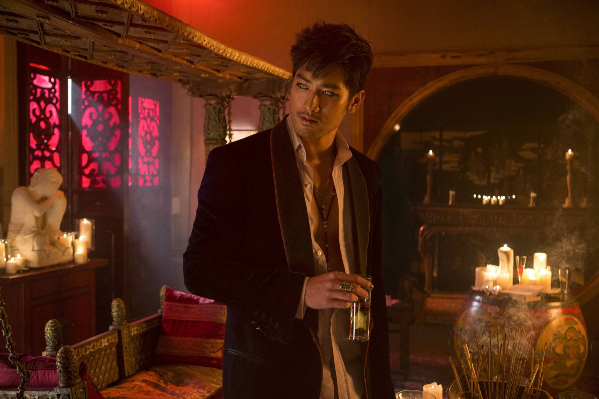 Godfrey Gao in 2013 fantasy-action film The Mortal Instruments: City Of Bones.
