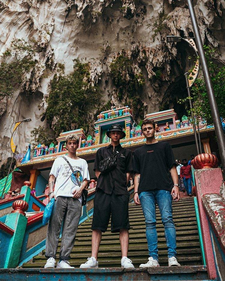 Why Don't We visited Batu Caves and an elephant sanctuary in Pahang while in town to perform a show. Photo: Instagram