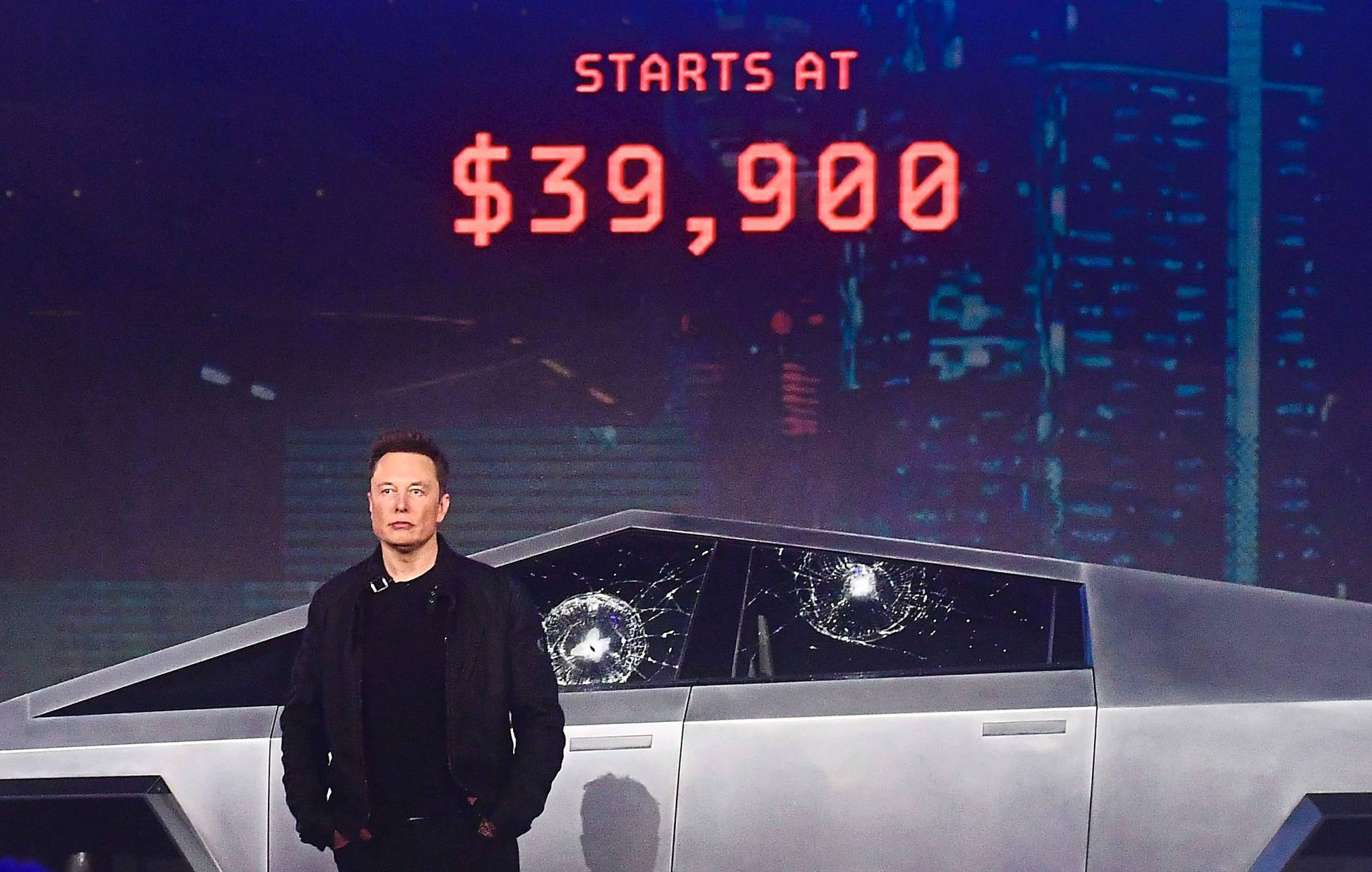 The great unveiling of Tesla Cybertruck didn't go as planned for Musk. — AFP