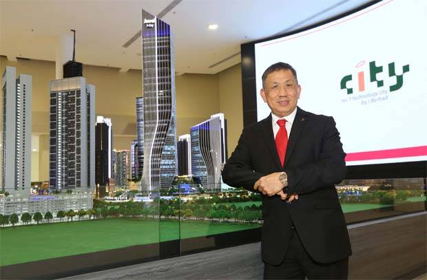 """"""" i-City's location in the heart of Selangor's Golden Triangle continues to offer immense longer term value, and which will underpin growth over the next decade and with almost 70% of our gross floor area (GFA) still untapped, """" I-Bhd executive chairman Tan Sri Lim Kim Hong (file pic)said"""