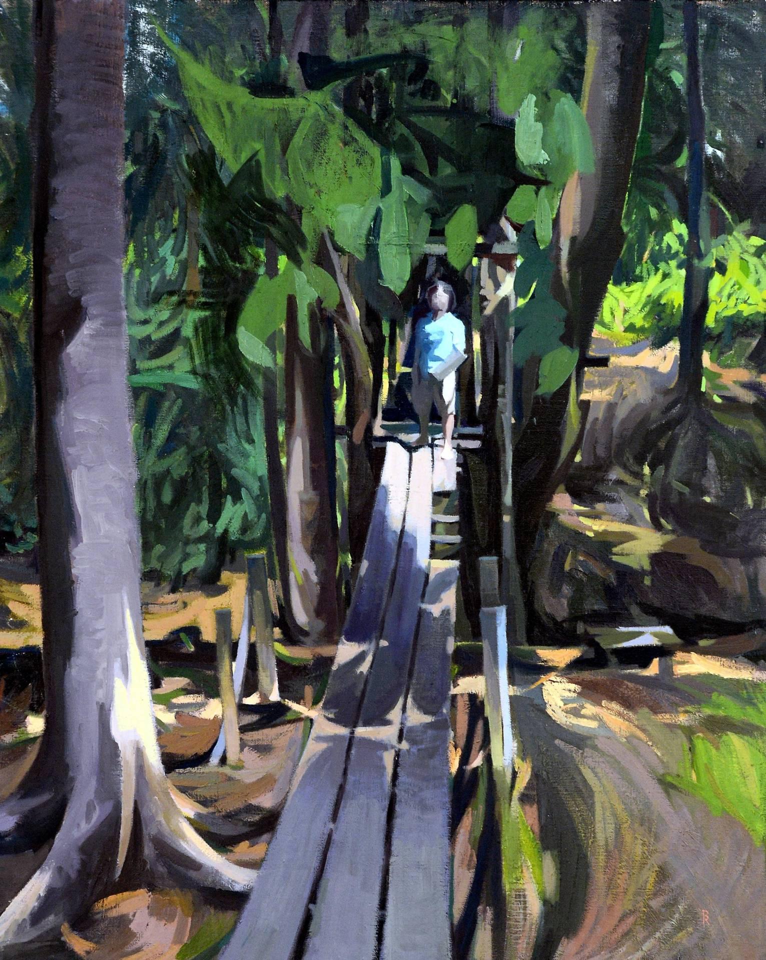 Ritom's 'The Fairy Woods, Topah', oil on canvas.