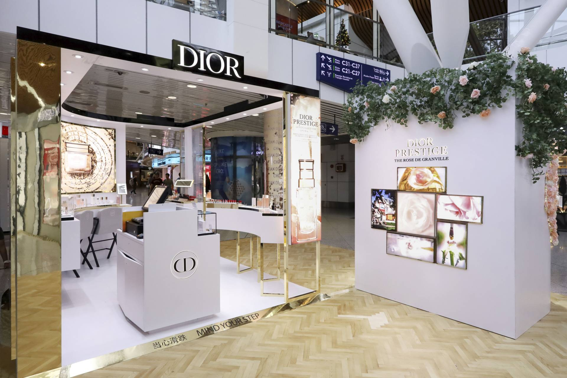 The Dior Prestige pop-up boutique at KLIA is the brand's first such store in a South-East Asia airport. - DR Group