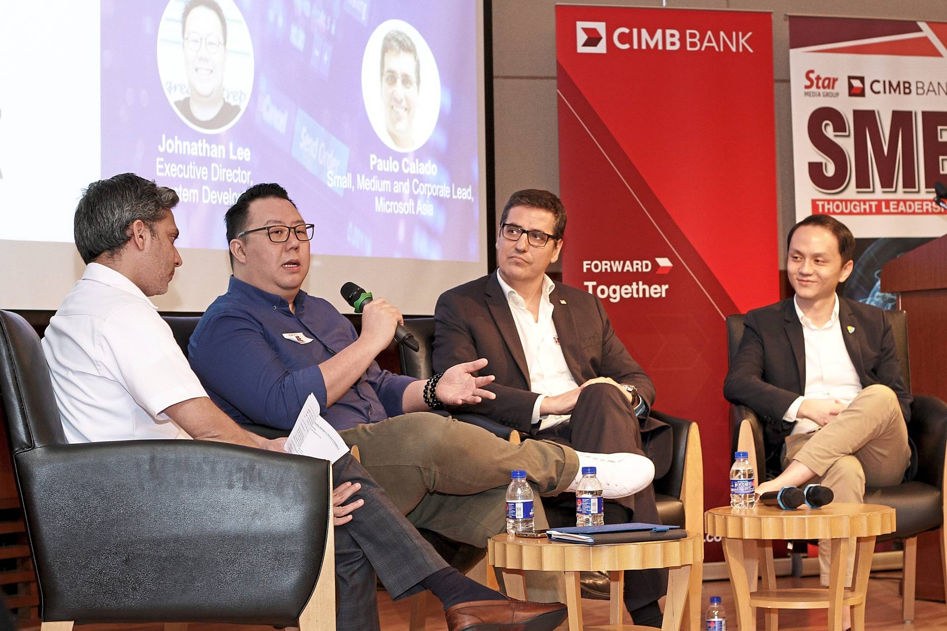 Weighing in: (from left) Shah Muhammad, Lee, Calado and Mah share their views at the recent panel discussion.