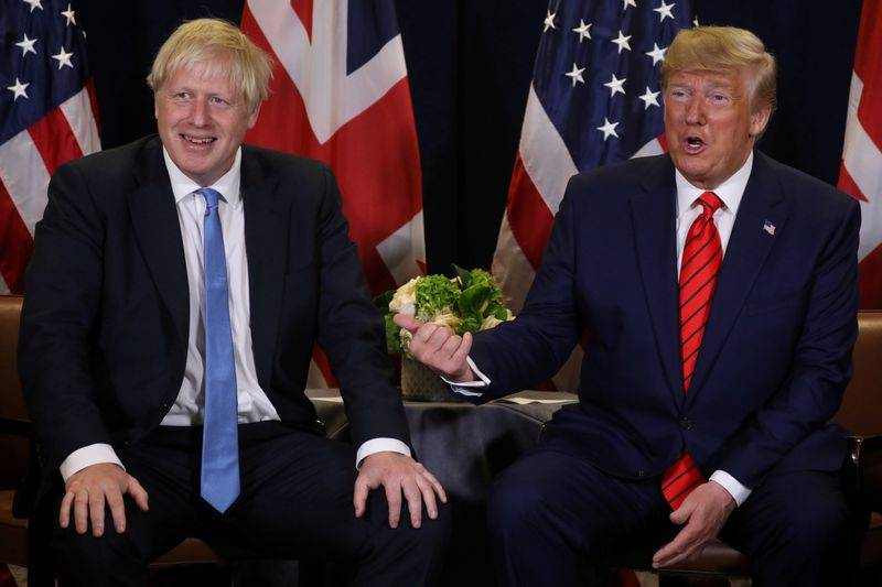 FILE PHOTO U.S. President Donald Trump holds a bilateral meeting with British Prime Minister Boris Johnson L on the sidelines of the annual United Nations General Assembly in New York City New York U.S. September 24 2019. REUTERSJonathan ErnstFile Photo