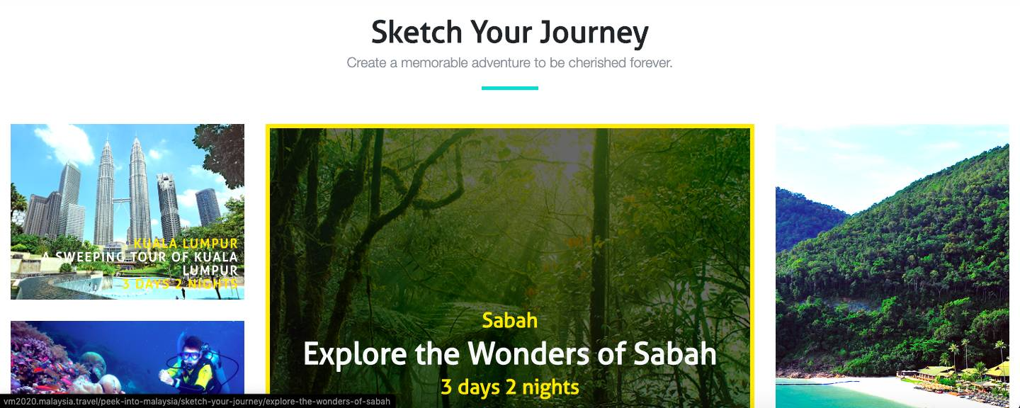 Planning to do a Malaysian holiday soon? The website will sort out your travel plans with comprehensive itineraries.