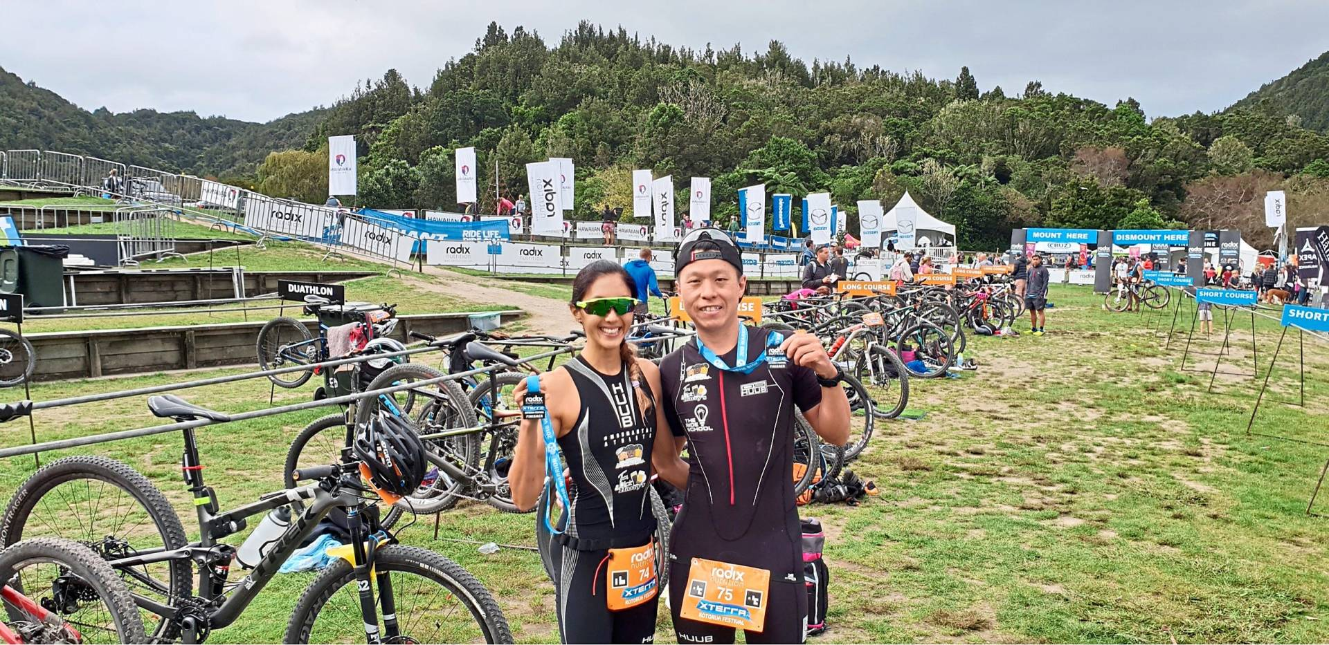 Teoh and Lee enjoyed their trip to Rotorua, New Zealand when they participated in an Xterra event. Photo: Jessen Lee and Sue Teoh