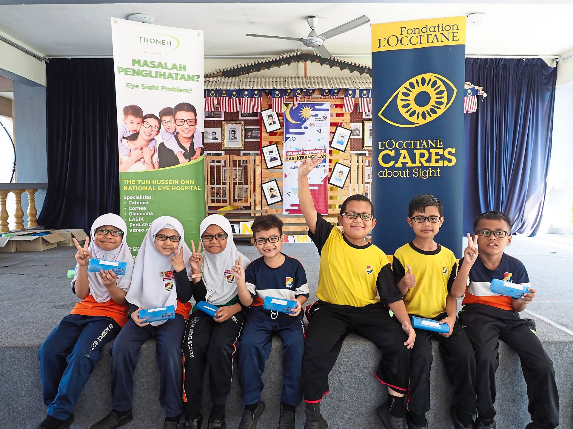 Malaysian children who have benefitted from L'Occitane Malaysia's CSR initiative in preventing avoidable blindness. - L'Occitane Malaysia