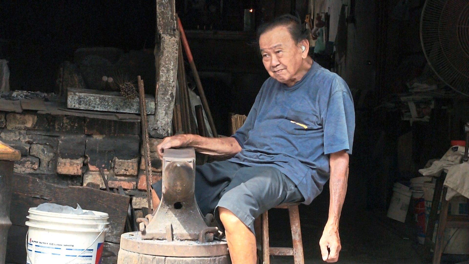 A film still, featuring an old world craftsman, taken from Chin's documentary short Moved Out. Photo: Victor Chin