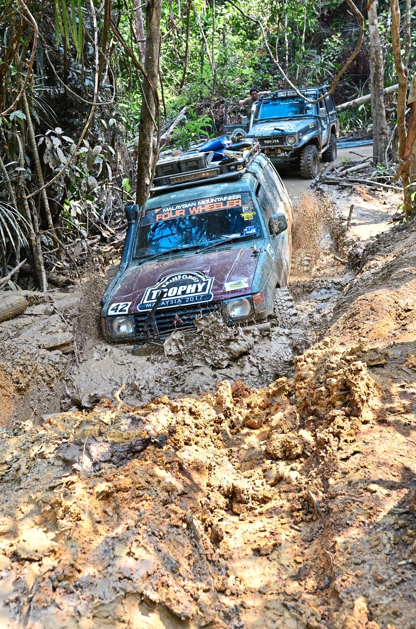 Participants of the Rainforest Trophy 2019 had to brave through 120km of off-road terrain. — KYAIROL ANUAR