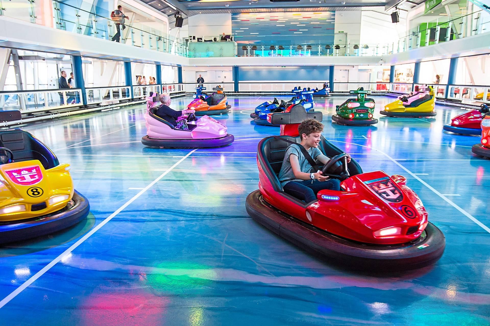 Bumper cars at SeaPlex, the on board sports venue. Photo: Royal Caribbean International