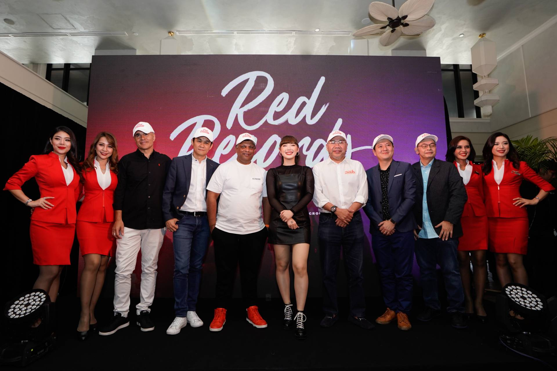 Thai-German singer Janine Weigel (centre) is RedRecords' first signed artiste.