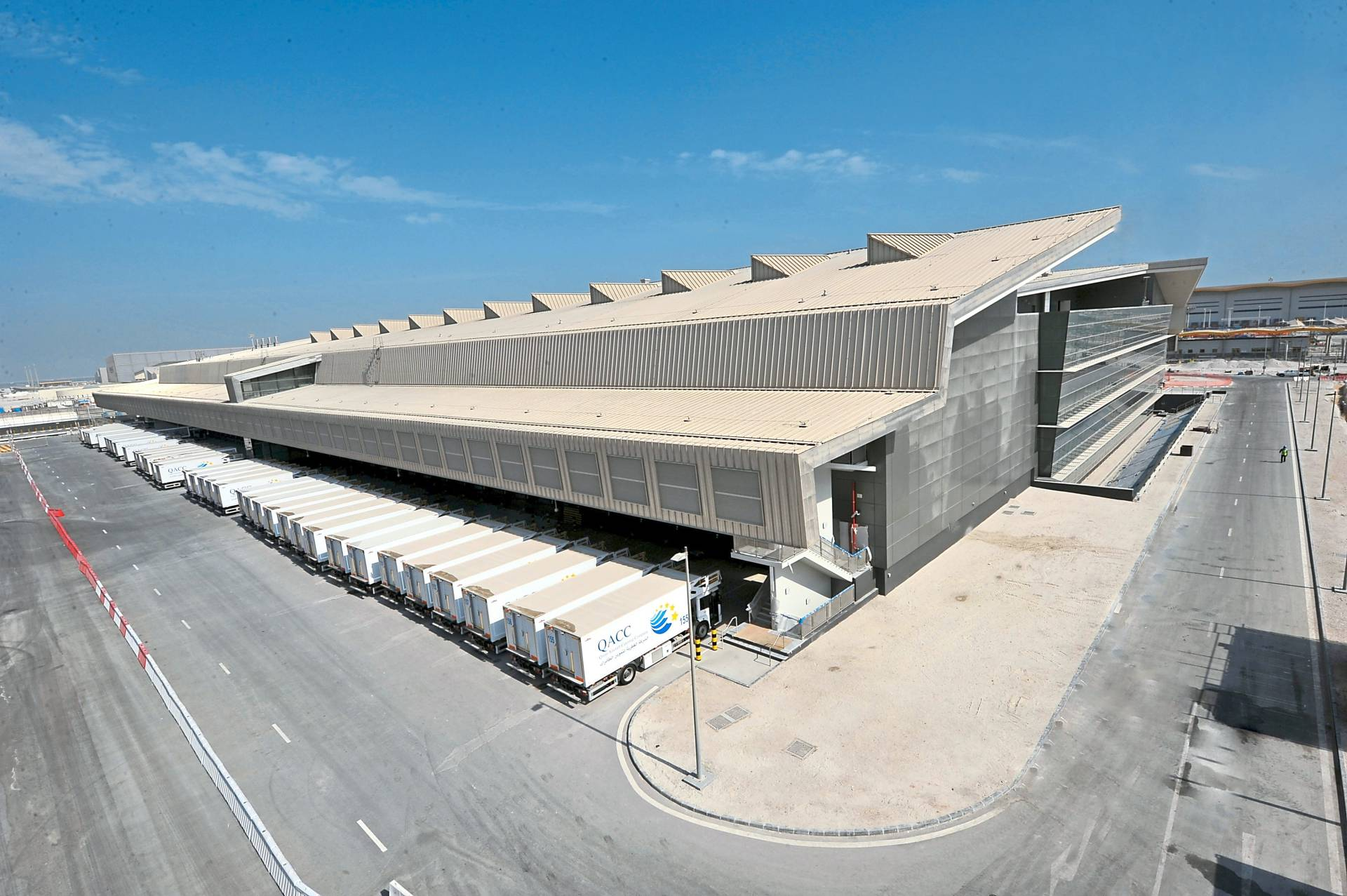 International acclaim: MEB's completed catering facility for the Hamad International Airport in Doha, Qatar.