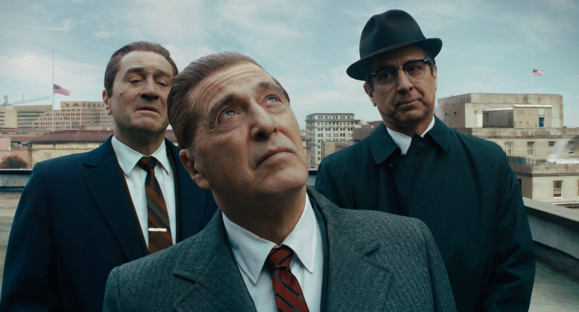(From left) Robert De Niro, Al Pacino and Ray Romano in a scene from 'The Irishman'. Photo: Netflix