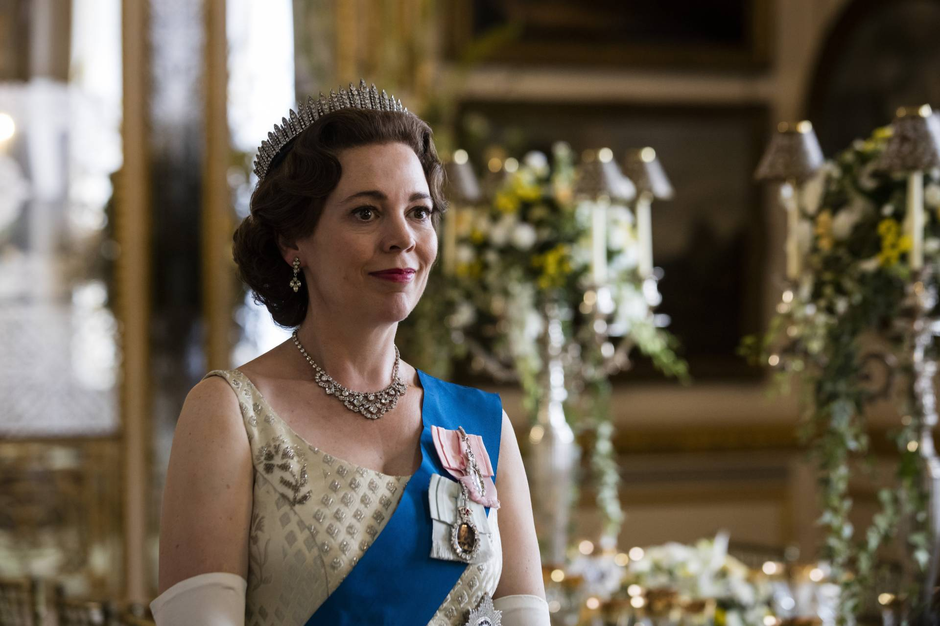 Olivia Colman portrays Queen Elizabeth II in a scene from the third season of 'The Crown'. Photo: Netflix