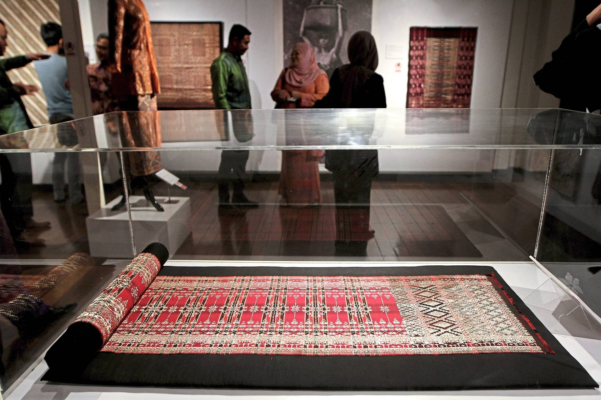 A wide range of exhibits featured in the 'Sulaiman Ghani: Malaysian Textile Art Activist Exhibition' at the National Textile Museum, Kuala Lumpur. Photo: The Star/Yap Chee Hong