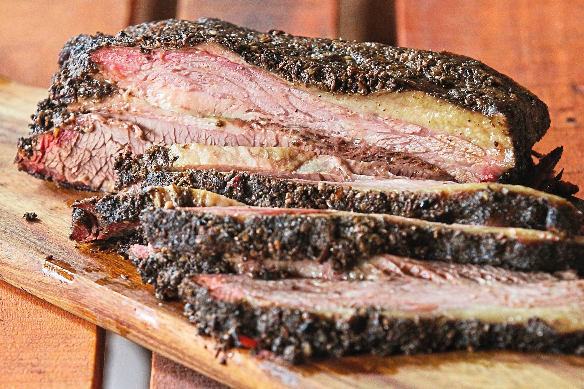 The brisket is a smoky beauty that you're likely to fall in love with upon first bite.