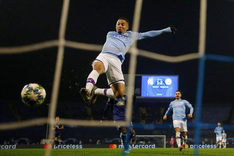 Football Jesus Hat Trick Gives Man City 4 1 Win At Dinamo The Star