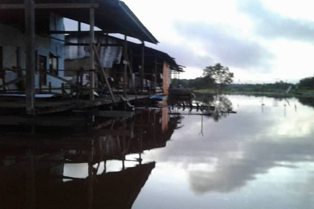 The Long Busang settlement in Baram, Sarawak on Dec 12, 2019. – picture courtesy of Sarawak Bomba