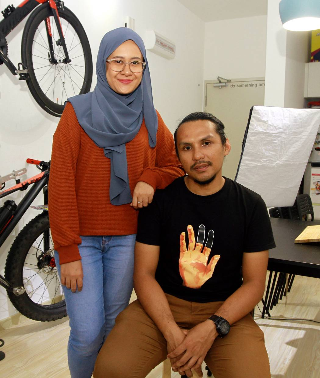 Isaac's wife Izzati Mazlan is very supportive of his side career and often helps him film when they go overseas.