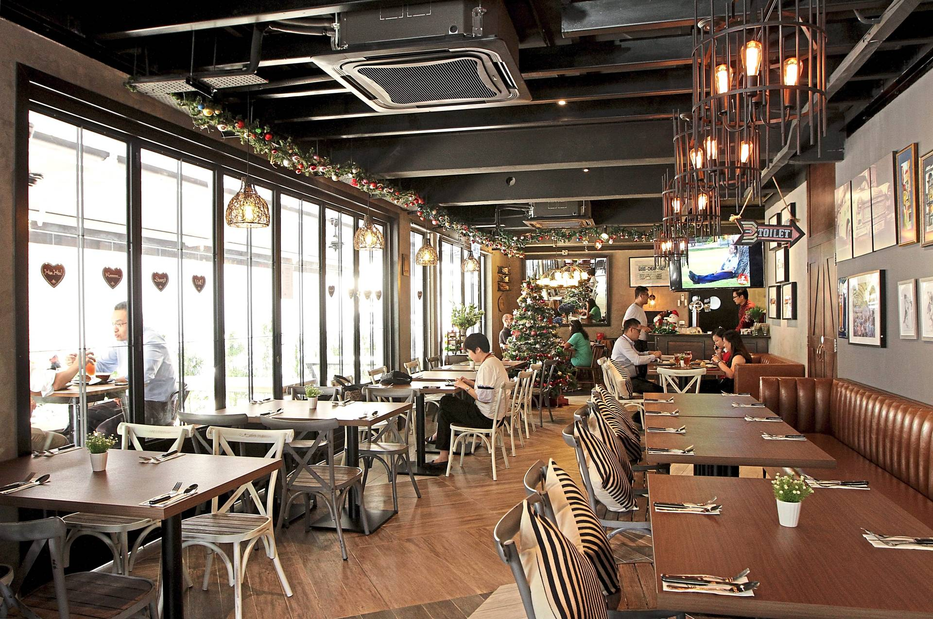 The interior of the eatery is modern and very welcoming.
