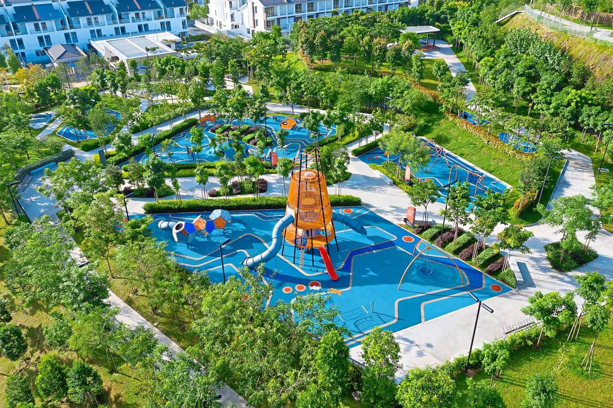 Green park: An aerial view of Mah Sing's Summit Park within the group's Southville City development, Bangi.