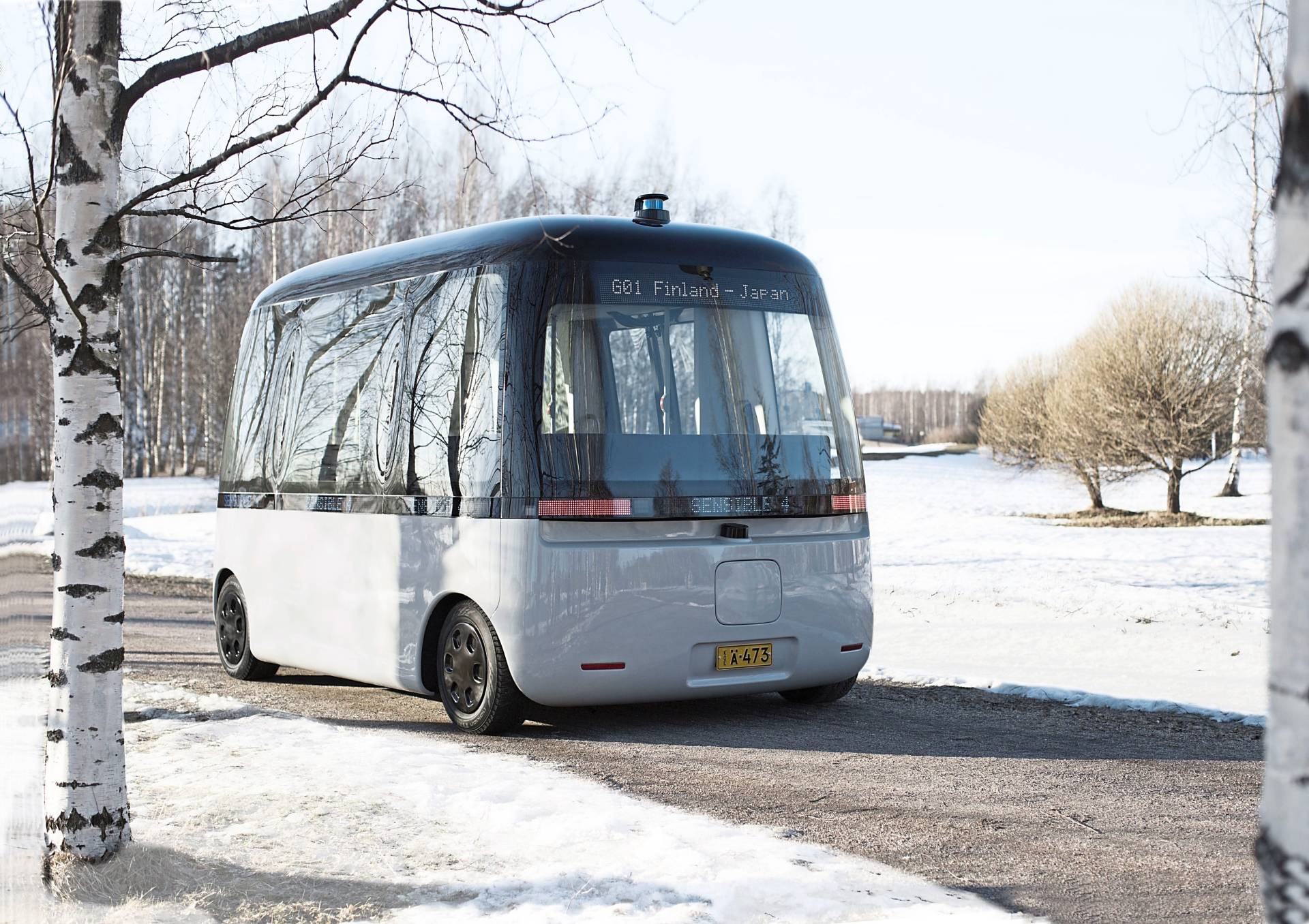 Gacha is a 'self-driving' bus that functions under all weather conditions and will serve regions with declining populations and older citizens who can no longer safely drive.
