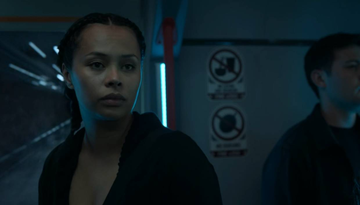 The scene featuring the No Durian sign on the first episode of 'The Expanse' Season Four.