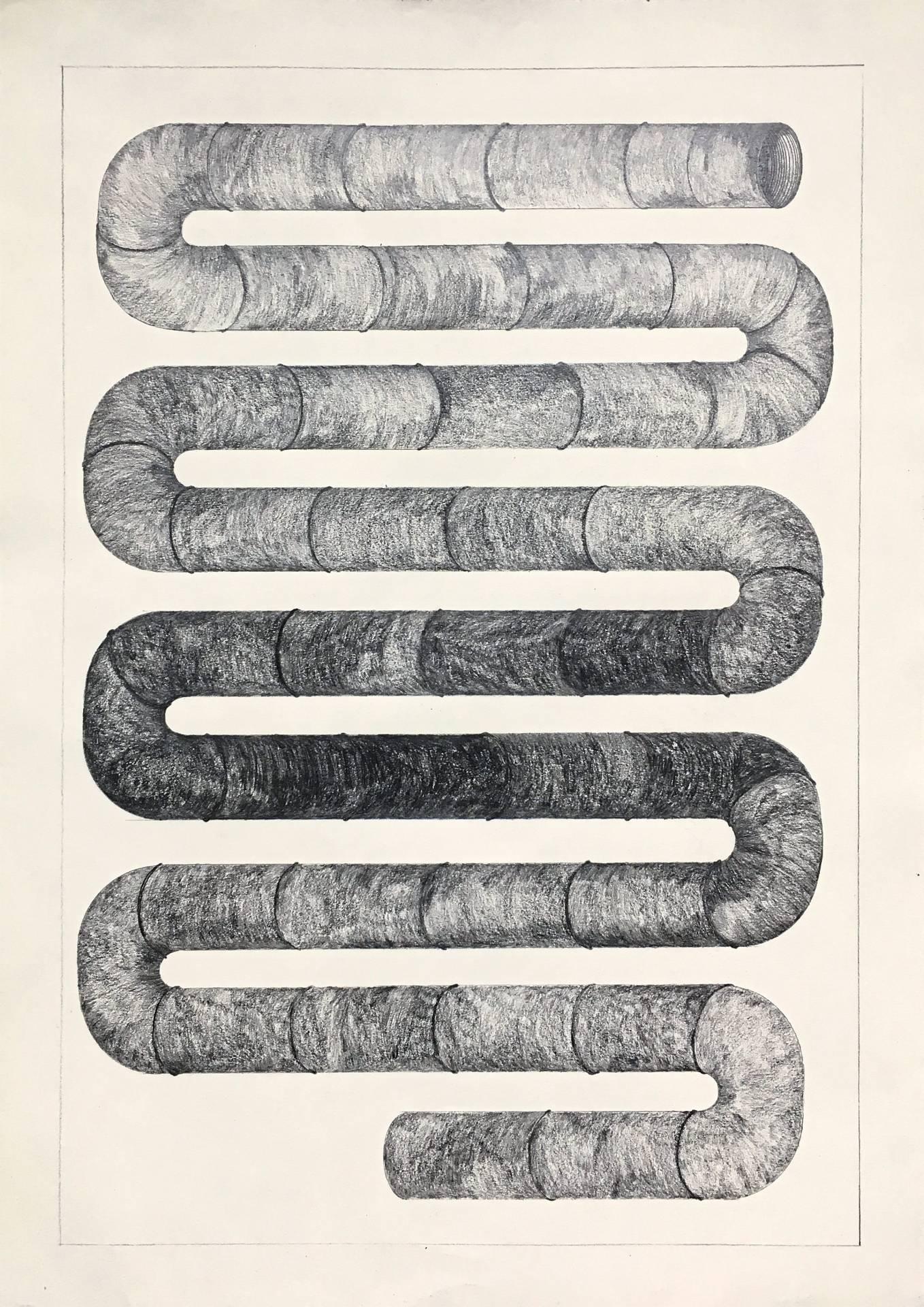 Izat's 'Taman Kenangan 8' (graphite on paper, 2019). Photo: Ilham Gallery