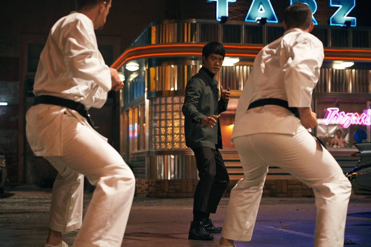 Danny Chan also gets to show off his Bruce Lee moves in the movie.
