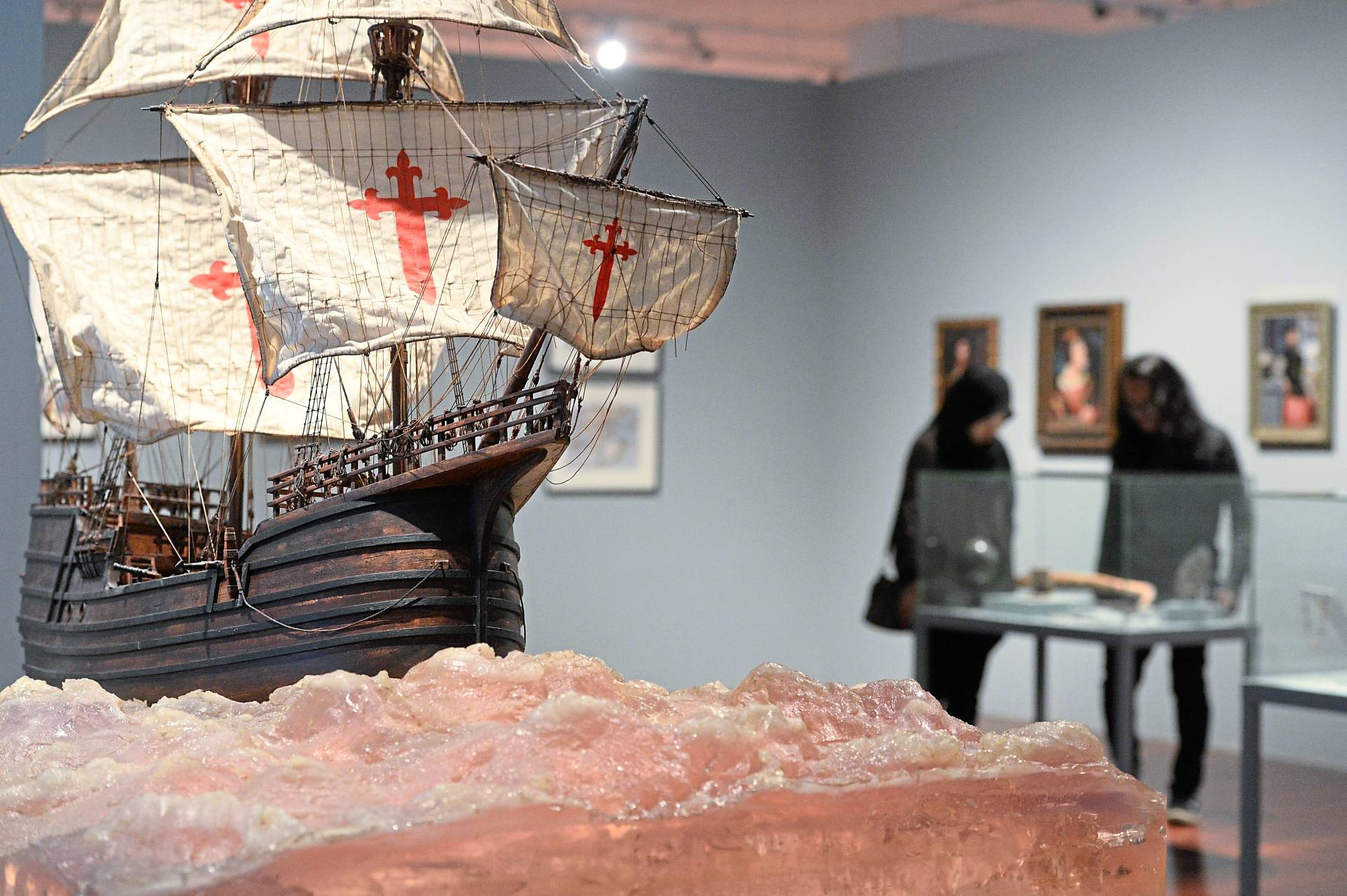 Ahmad Fuad's 'The Trinidad' (2016), a work which is part of his 'Enrique de Malacca Memorial Project'. Photo: The Star/Ong Soon Hin