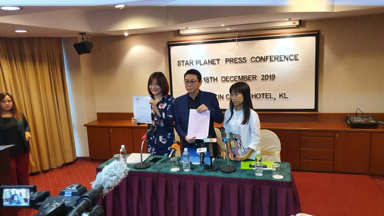Star Planet held a press conference on the cancellation of Namewee's concert. Photo: Handout