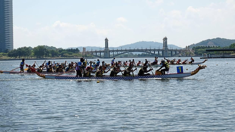 The inaugural Oxygenation Dragon Boat Race in Putrajaya.