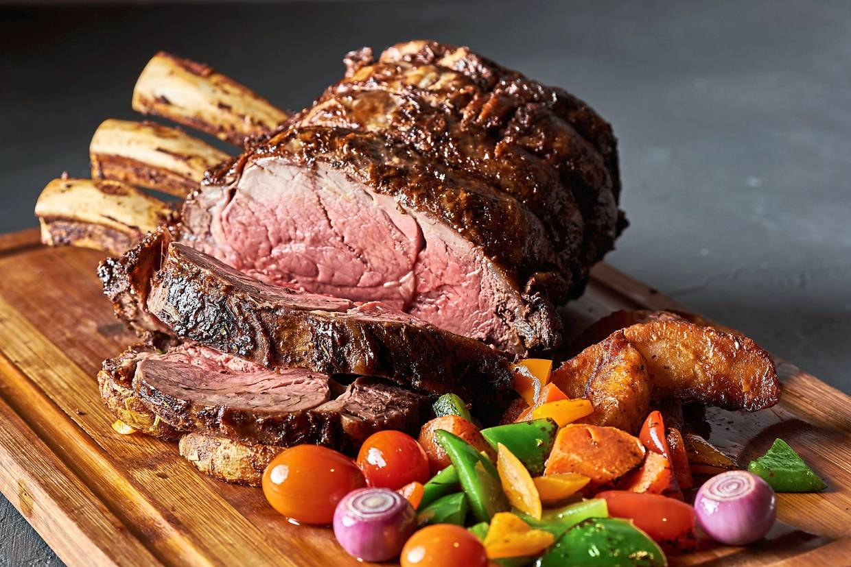 Meat lovers will enjoy sinking their teeth into the roast prime rib.