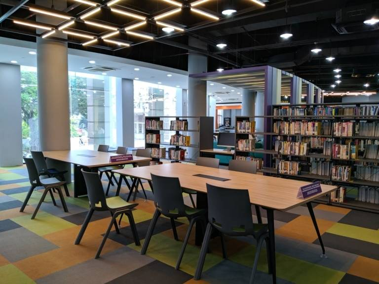 The inside of the Kuala Lumpur library at Dataran Merdeka. Photo: Adib Ismail