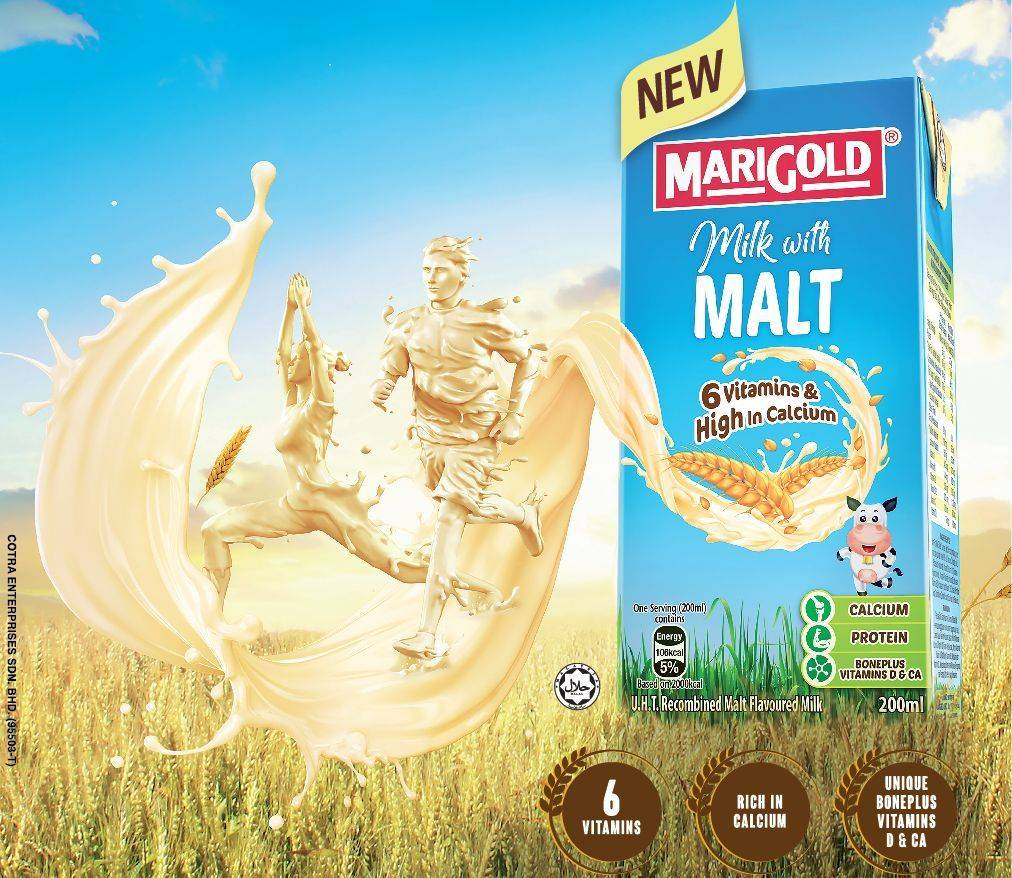 Try out the new Marigold UHT Milk with Malt today.