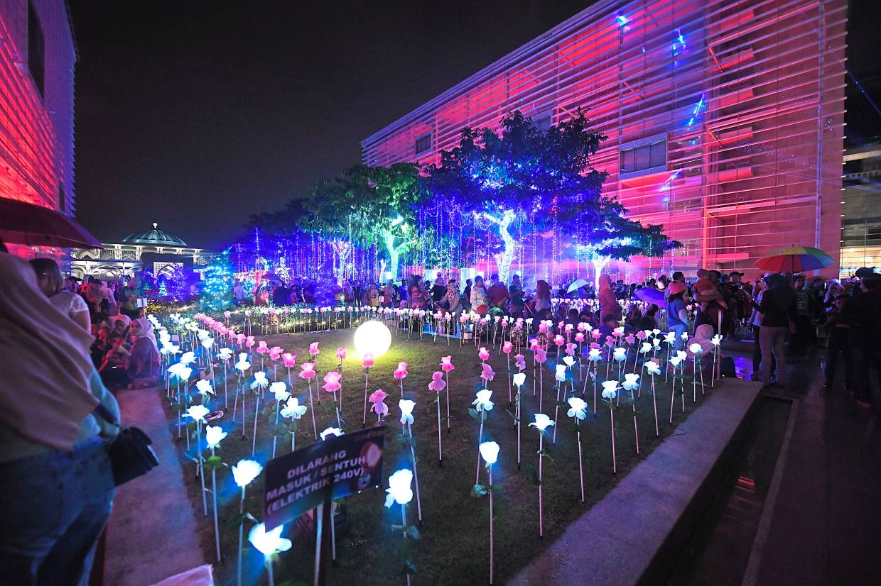 Visitors to Lampu 2019 will get to see plants and trees lit up with colourful lights.
