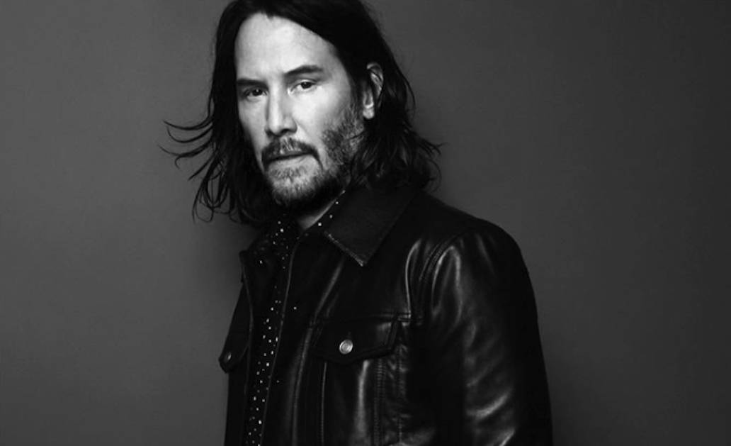 Keanu Reeves for Saint Laurent. Photo: Saint Laurent Instagram