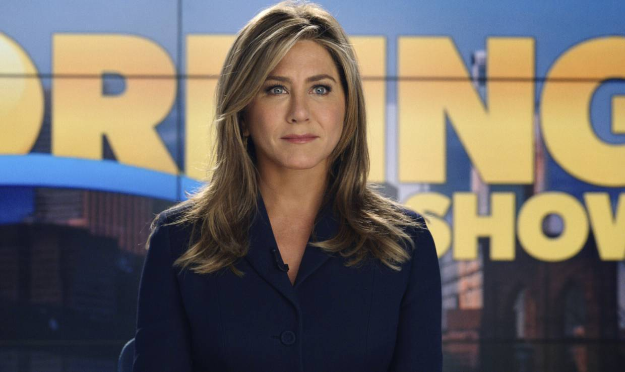Jennifer Aniston in a scene from 'The Morning Show'. Photo: AP