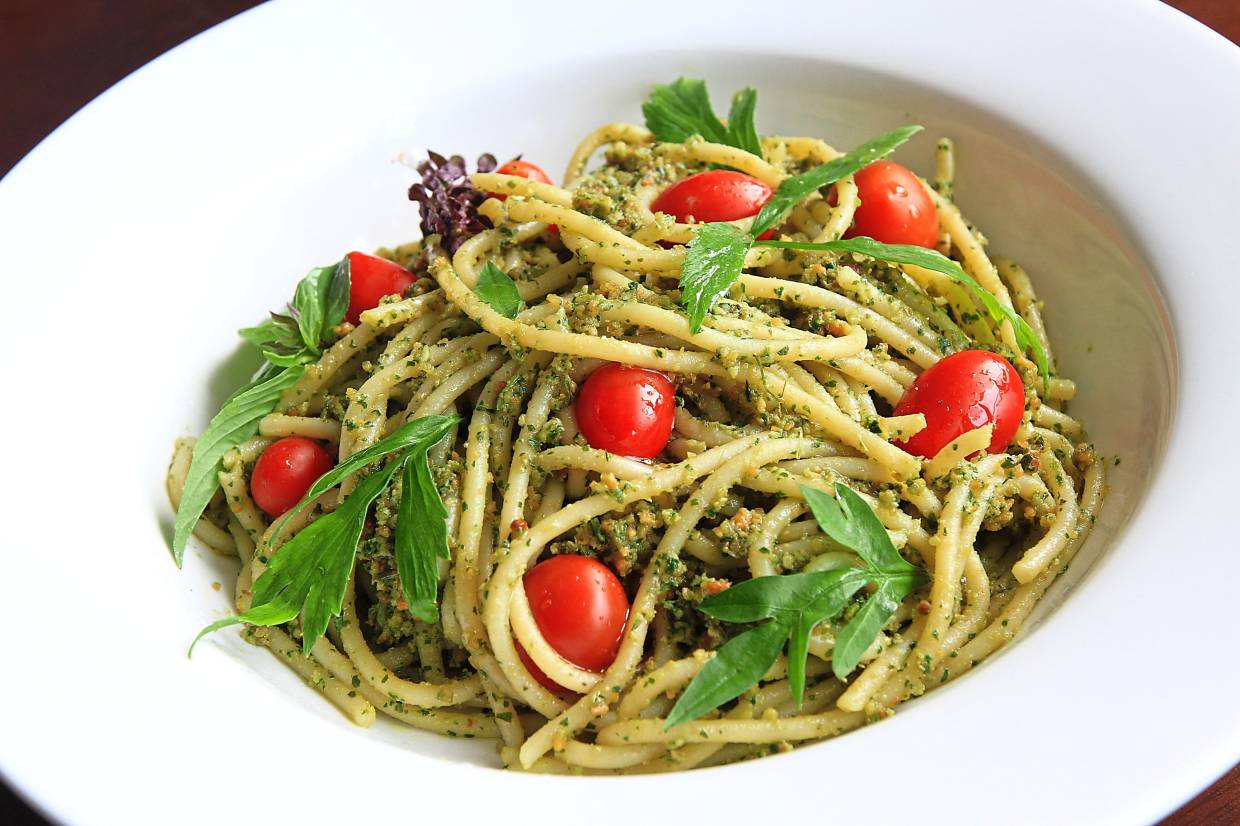 This ulam peanut pesto dish is purely vegan, but delicious in taste. Photo: The Star/Low Lay Phon