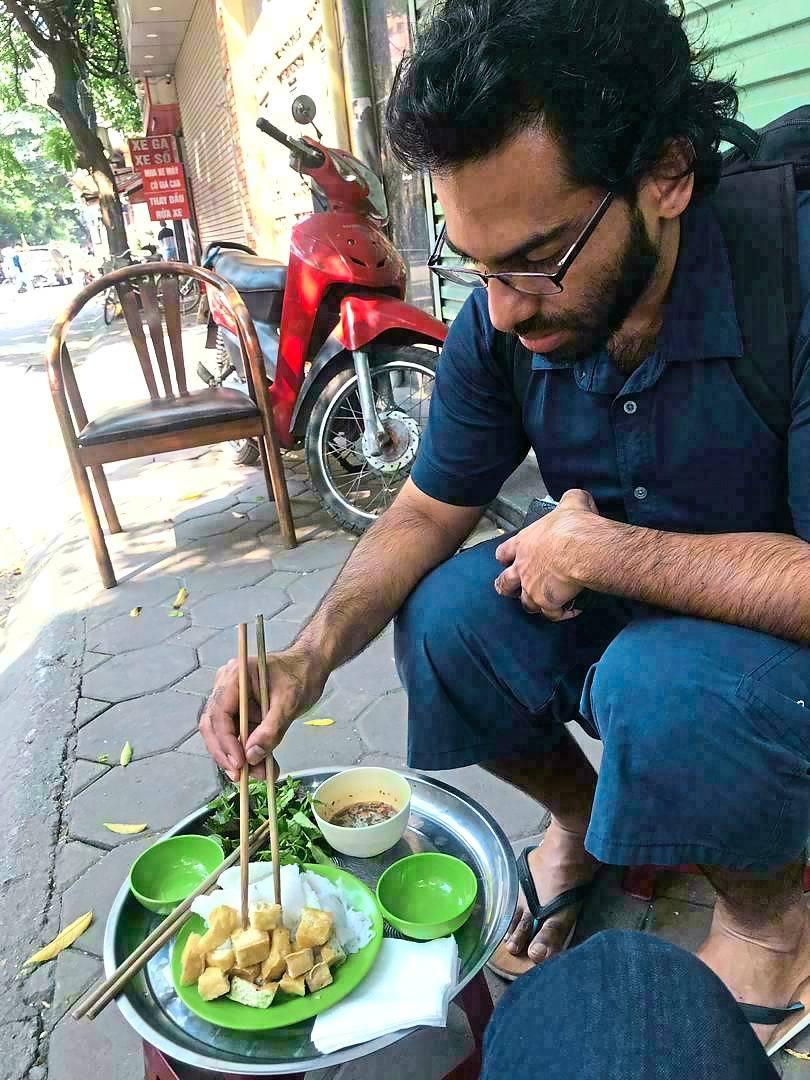 Dr Vigneshwaran's vegetarian diet now mostly consists of fibrous vegetables and tofu. —  Dr Vigneshwaran Kandiah