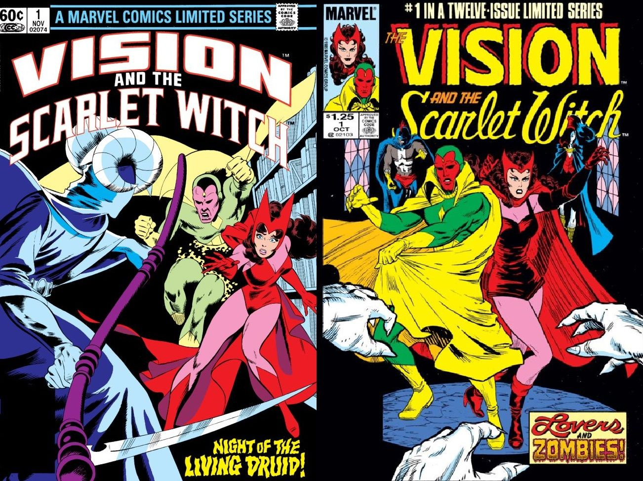 Scarlet Witch and Vision starred together in two limited series.