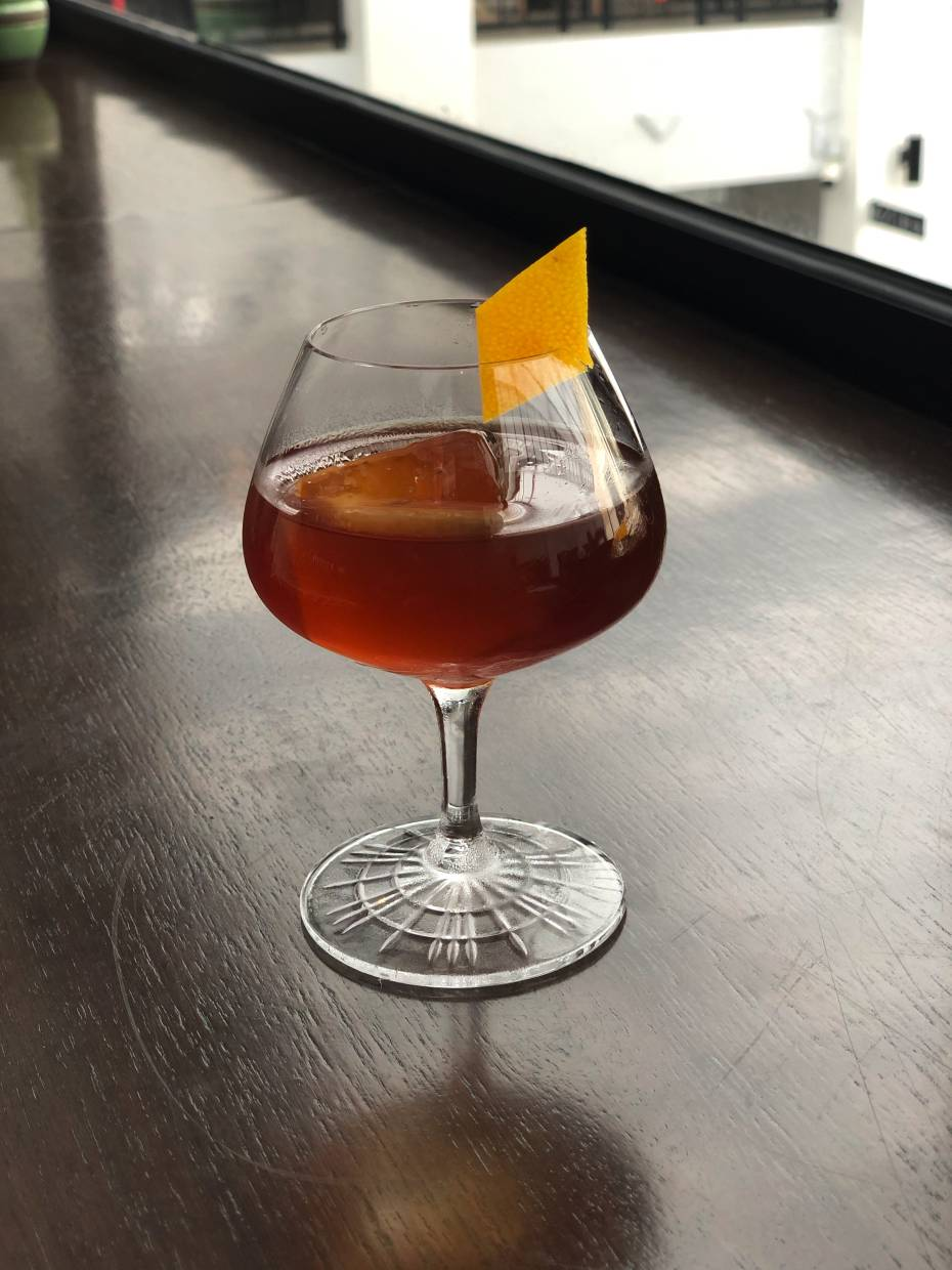 The Manhattan Negroni is a crossover between two classic cocktails.