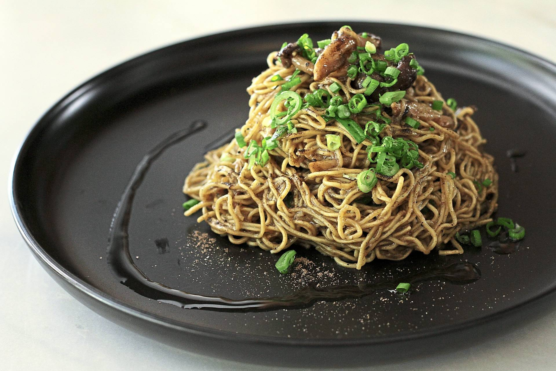 The truffle egg noodles are not bad, but not as illustrious as other offerings on the menu.