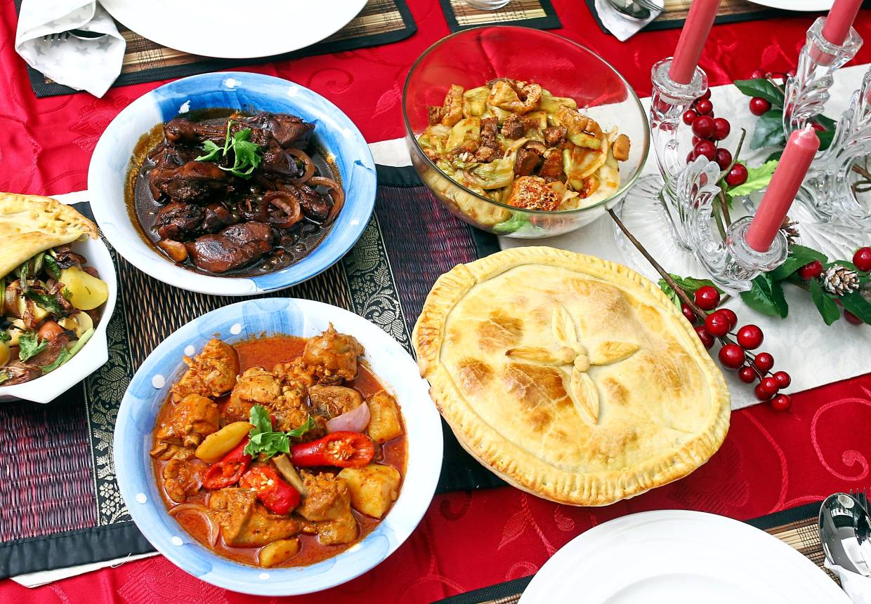 Eating a balanced meal during the holiday period can help with the post-festivities recovery. — Filepic