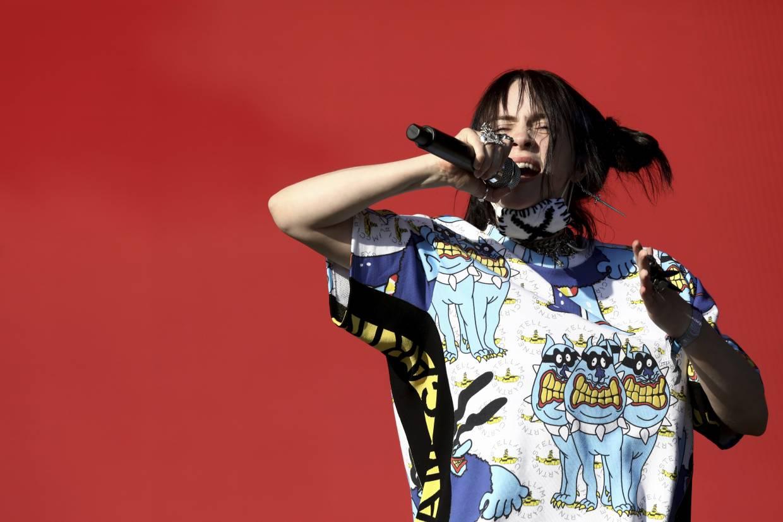 Eilish performing at Glastonbury last June. Photo: AP