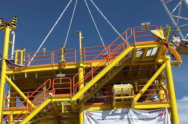 In a filing with Bursa Malaysia, the company said OceanMight had received a letter of award to provide engineering, procurement, construction, commissioning (EPCC) and installation of wellhead platform for BKD-A and host tie-in modification at BNCPP-B topsides. (File pic shows part of OceanMight's yard in Kuching.)