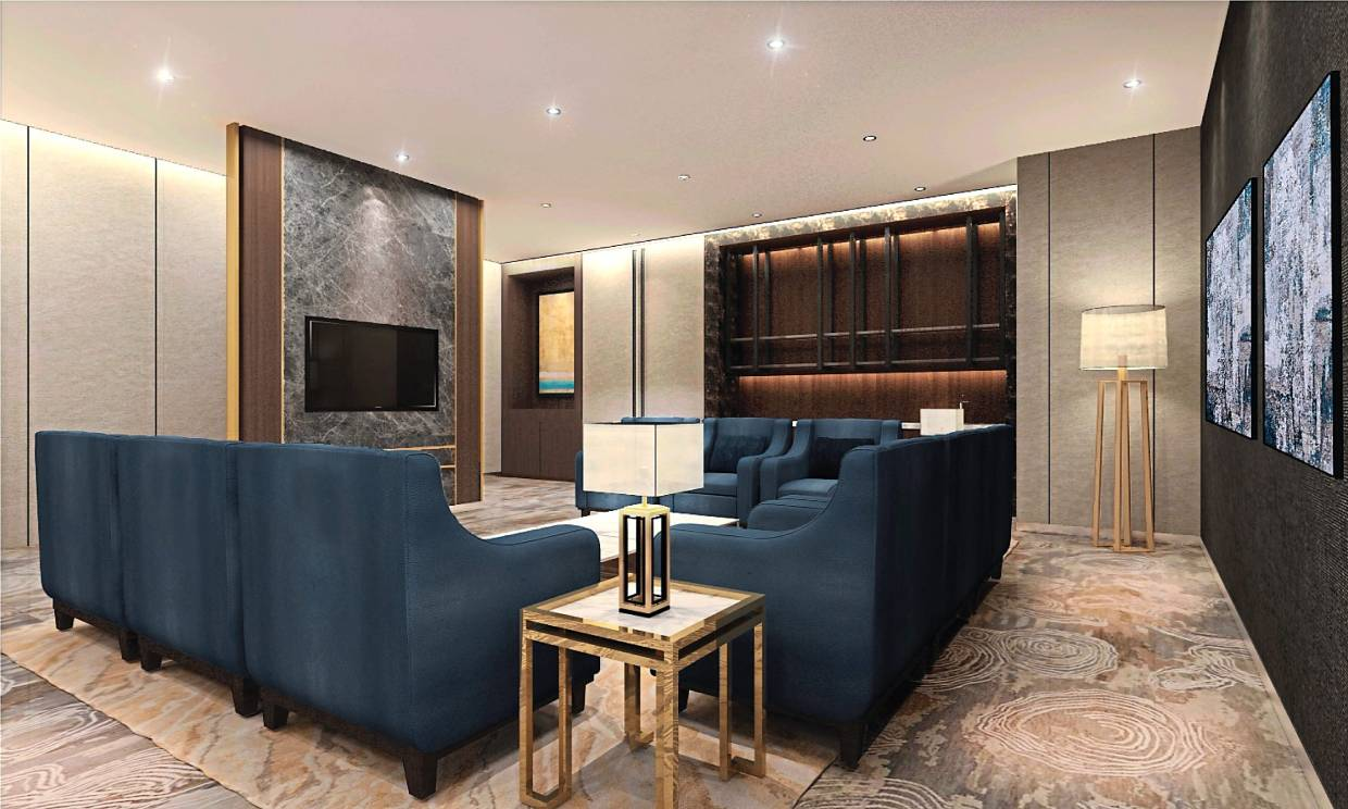 The VIP room at MITEC reflects the greater focus on comfort and privacy for guests.