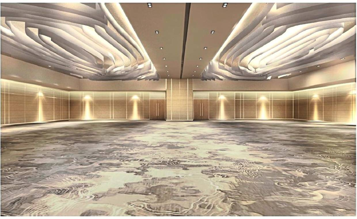 The function hall at MITEC has been transformed to now accommodate up to 550 pax.
