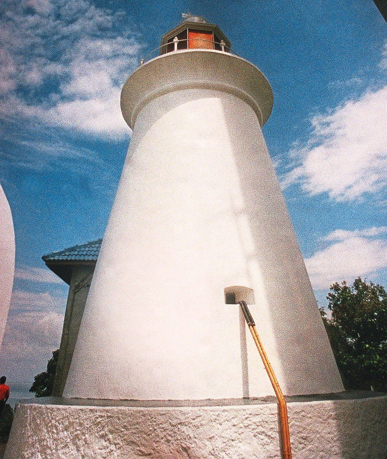 There is a lighthouse you can visit at Pulau Angsa.