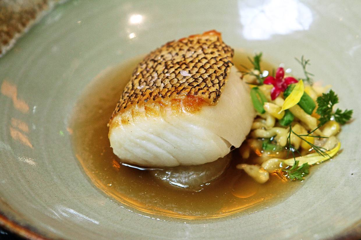The cod fish dish is light and very, very rewarding on the taste front.